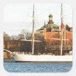 Sailing in Stockholm, Sweden Square Sticker
