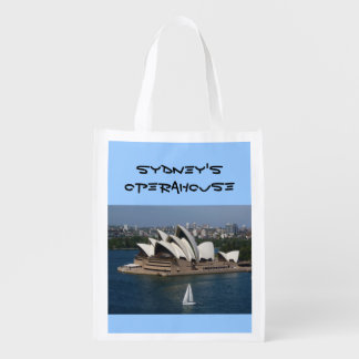 sailing in Sydney Reusable Grocery Bag