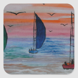 sailing in the bay stickers