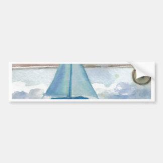 Sailing in the Big, Big Sea CricketDiane Ocean Art Car Bumper Sticker