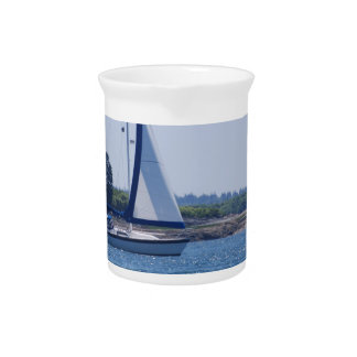 Sailing in the Blue Drink Pitcher