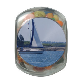 Sailing in the Blue Glass Candy Jars