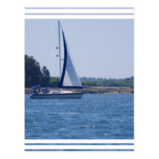 Sailing in the Blue Postcard