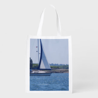 Sailing in the Blue Reusable Grocery Bag