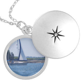 Sailing in the Blue Silver Plated Necklace