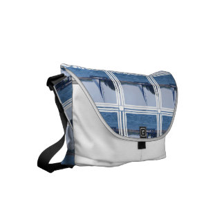 Sailing in the Blue Small Messenger Bag