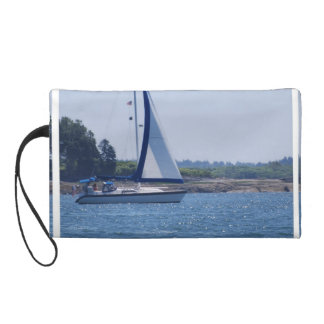 Sailing in the Blue Wristlet