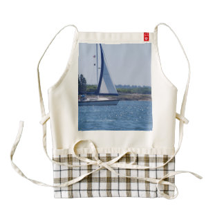 Sailing in the Blue Zazzle HEART Apron