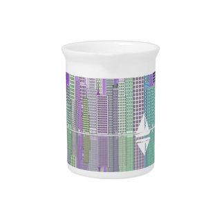 Sailing In The City Drink Pitcher