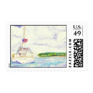 Sailing  in the Islands - Stamp