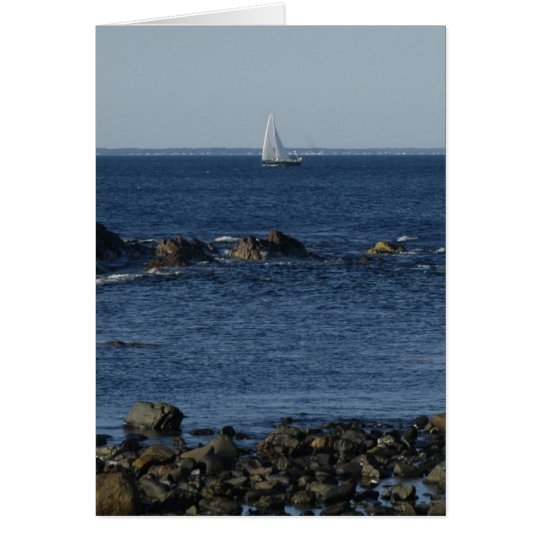 Sailing in the North East, USA Card