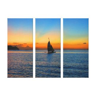 Sailing in Tumon Canvas Print