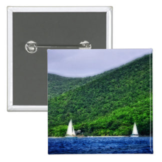 Sailing in US Virgin Islands Pinback Button
