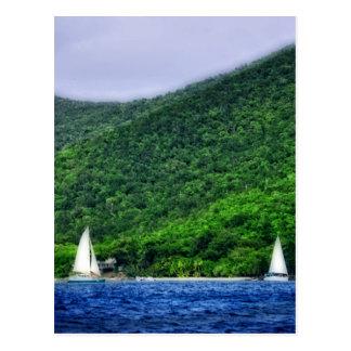 Sailing in US Virgin Islands Postcard