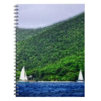 Sailing in US Virgin Islands Spiral Notebook