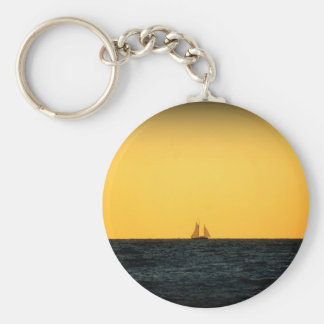 Sailing in Venice 2 Basic Round Button Keychain
