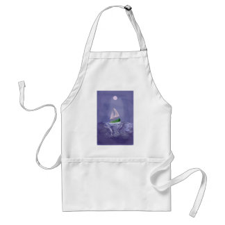 Sailing into a Midnight Storm Adult Apron
