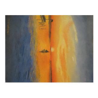 Sailing Into An LBI Sunset Postcard