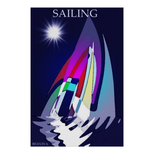 Sailing into the night. poster