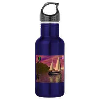 Sailing Into the Sunset 18oz Water Bottle