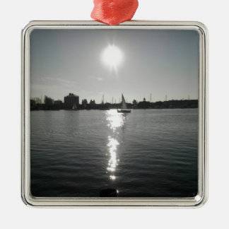 Sailing into the Sunset Metal Ornament