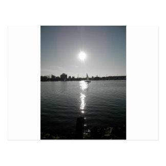 Sailing into the Sunset Postcard