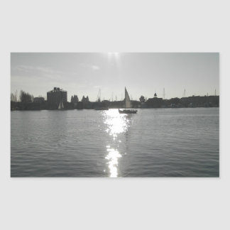 Sailing into the Sunset Rectangular Sticker