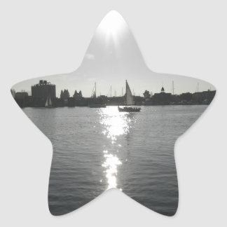 Sailing into the Sunset Star Sticker
