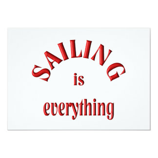 Sailing is Everything Card