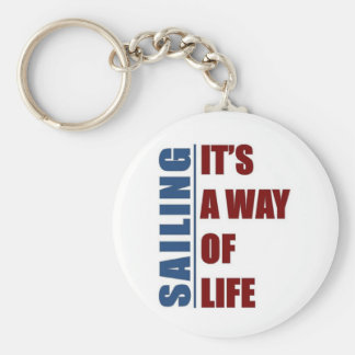 Sailing its a way of life keychain