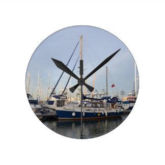 Sailing Ketch Francesca Round Wall Clock