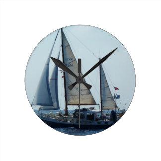 Sailing Ketch Francesca Round Wallclock