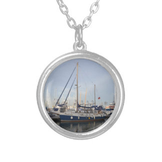 Sailing Ketch Francesca Silver Plated Necklace