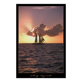 Sailing - Key West Poster