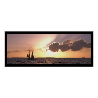 Sailing, Key West Poster