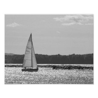 Sailing Lake Champlain Boats Sailboat Poster
