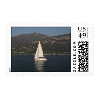 Sailing Lake Como Postage