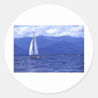 Sailing Lake Pend Oreille Classic Round Sticker