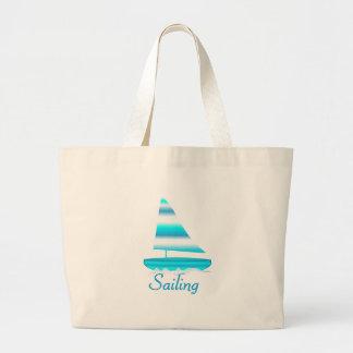 Sailing Large Tote Bag