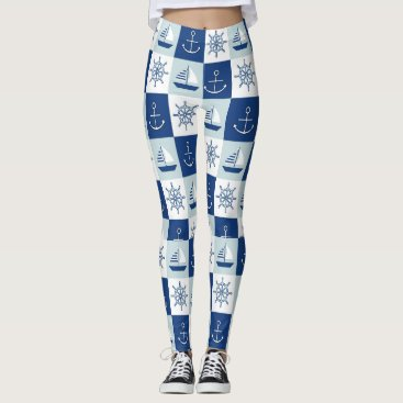 Beach Themed Sailing Leggings
