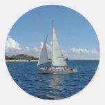 sailing lj classic round sticker