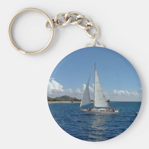 sailing lj key chain