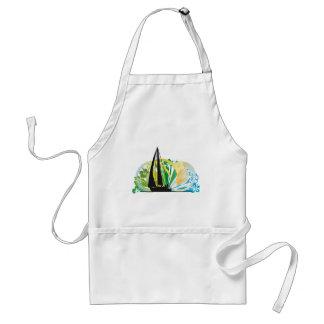 Sailing luxury yacht illustration adult apron
