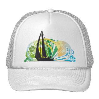 Sailing luxury yacht illustration hat