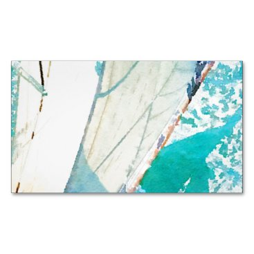 Beach Themed Sailing Magnetic Business Card