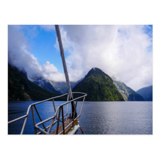 Sailing Milford Sound, New Zealand - Postcard