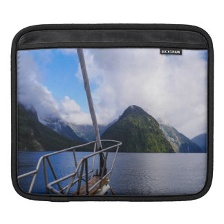 Sailing Milford Sound, New Zealand Sleeves For iPads