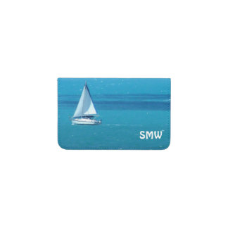 Sailing Monogrammed Business Card Holder