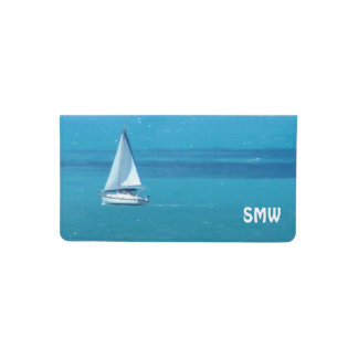 Sailing Monogrammed Checkbook Cover