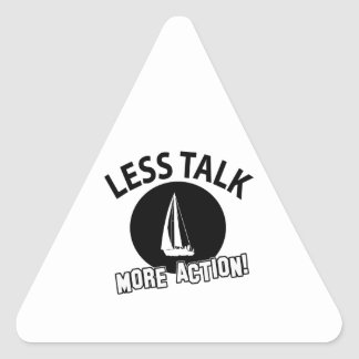 sailing more awesome triangle sticker